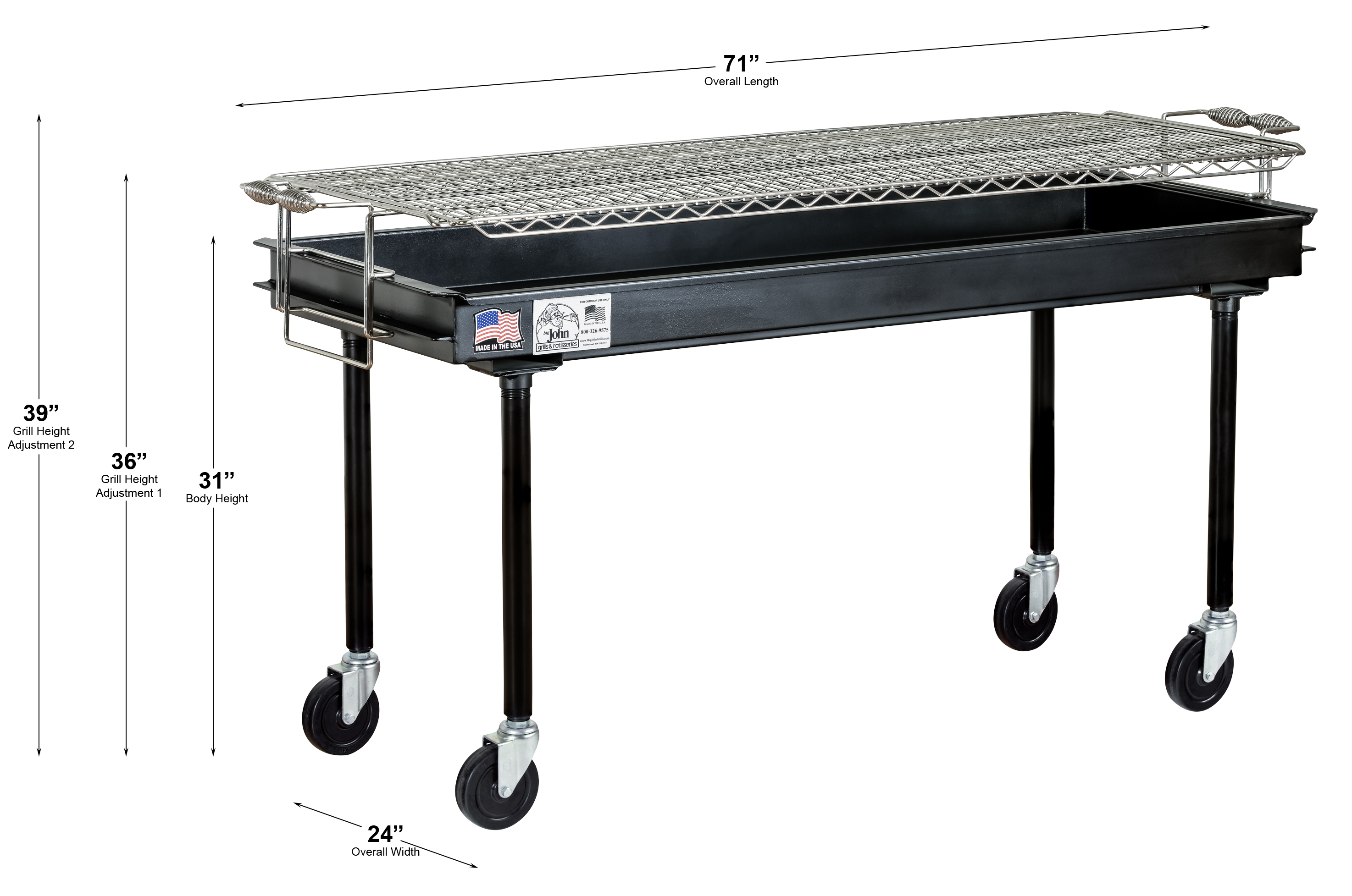 Cooking Surface 61 5 L X 24 W 1 H 10 Sq Feet Please Note All Measurements Are Rough John Grills Recommends Having Equipment In Hand For